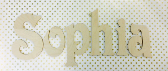 Wood Wall Letters, Nursery Wall Letters, UNFINISHED alphabet letters, kids room decor