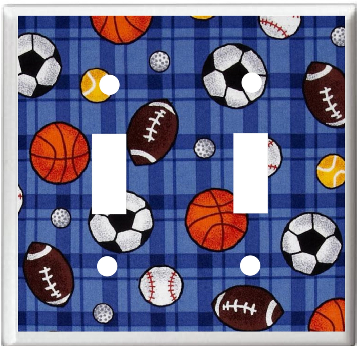 All Sports Light Switch Cover Plate Or Outlet Boys Room