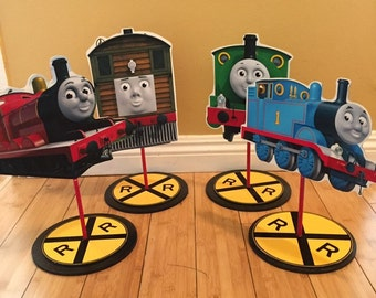 Thomas the Inspired Character Centerpiece, Thomas, James, Percy, Toby Train party