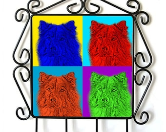 Eurasier- clothes hanger with an image of a dog. Collection. Andy Warhol Style