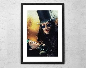 Dracula - Gary Oldman, Illustration - Wall art Poster - Fine Art Print for Interior Decoration