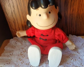 Vintage Peanuts Lucy Charlie Brown Lucy Doll Peanuts Gang Lucy Doll Charlie Brown Cartoon