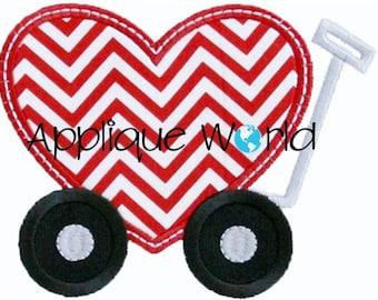 Heart Wagon Applique Embroidery