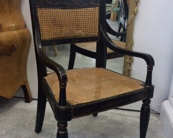 Chinoiserie Chair with Cane Seat