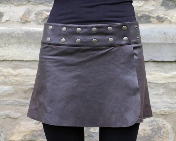 handmade leather skirt hippie skirt
