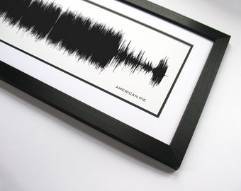 American Pie - Music Art Sound wave Print - Song Lyric Art, Band Poster