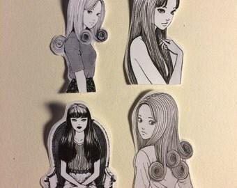 junji ito sticker set