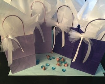 Bridesmaid Gift Bags, 12 Wedding Favors Bags, Gift Bags for Showers, Bridesmaid Gift Bag, Baby Shower Gift Bags, Bridal Shower Gift Bags