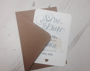 Romantic Floral Save The Date Pack 10