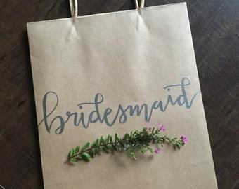 Wedding Gift Bags For Groomsmen : Bridesmaid Gift Bag Wedding Favor Groomsman Groomsmen Gift Wedding ...