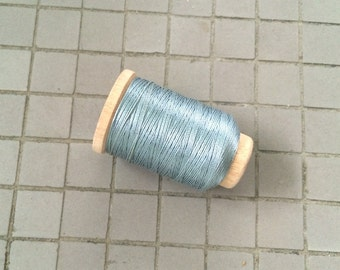 Vintage Holland/Utica Silk Thread Spool, Light Silvery Blue, Size F, 140 Yards