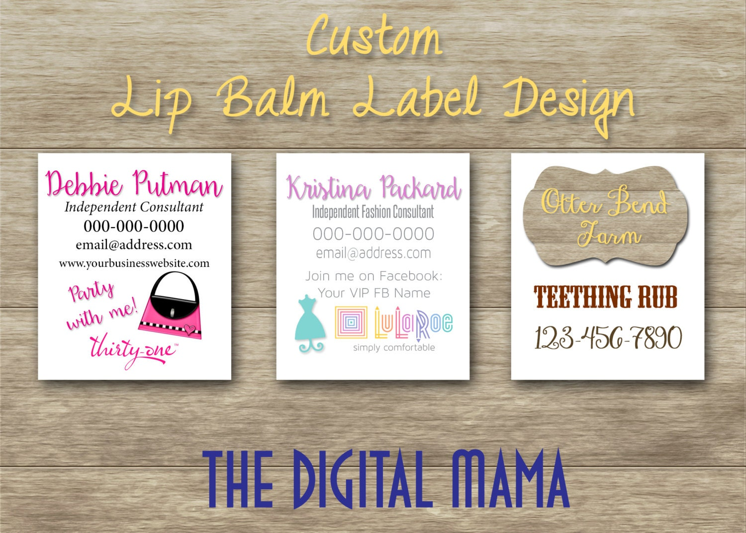 Custom lipbalm label design template thirty one lip balm for Chapstick label design
