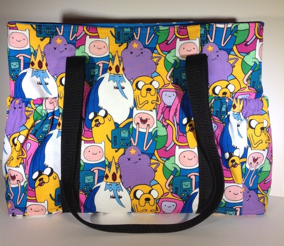 adventure time tote purse diaper bag finn and jake. Black Bedroom Furniture Sets. Home Design Ideas