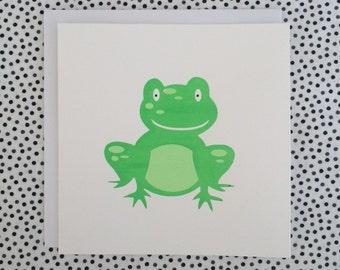 Frog - Screenprint Card and envelope
