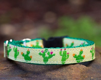 Cactus Cat Collar/Toy Breed Dog Collar  / XXS - Small Dogs / Australian Made