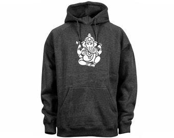 Yoga wear Hindu culture Ganesh women/men/junior dark heather gray hoodie