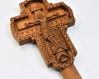 Handmade carved orthodox cross