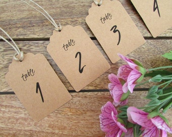 Table Number Tags   Wedding Table Numbers   Table Number Swing Tags   Centerpiece Decor   Pre-Cut Twine Included