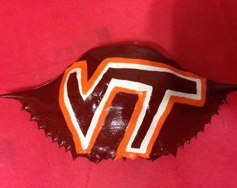 Virginia Tech Handpainted Crabshell