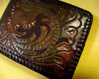 Vintage hand made western wallet.