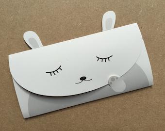 Rabbit Folding Card, Birthday Card, Secret Message Card, Greeting Card, Novelty Card, Just Because Card, Blank Card, Rabbit Lover Card