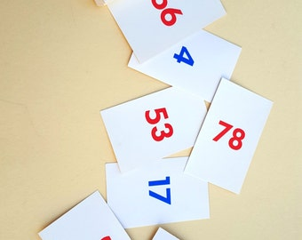 Vintage Flash Cards by School Zone Numbers 1-100/ Vintage Epherma/ Perfect for Framing
