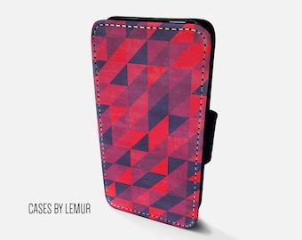GEOMETRIC Iphone 5 Wallet Case Leather Iphone 5 Case Leather Iphone 5 Flip Case Iphone 5 Leather Wallet Case Iphone 5 Leather Sleeve Cover