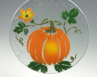 Pumpkin Suncatcher Fall Window Hanging
