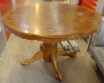 Round Oak Claw Foot Table (LOCAL PICKUP ONLY)
