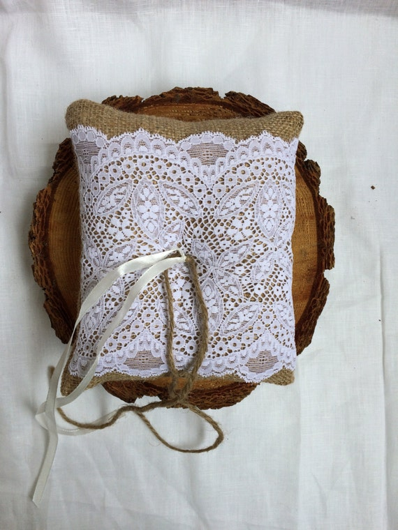 Ready to ship! Ring bearer pillow, wedding accesories, rustic wedding decor, vintage wedding, cottage chic