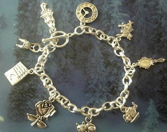 Silver Plated 'Alice in Wonderland' Charm Bracelet