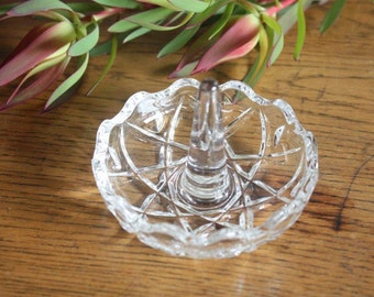 Vintage cut glass ring holder