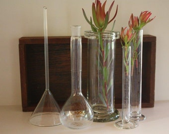 Vintage laboratory glass instant collection