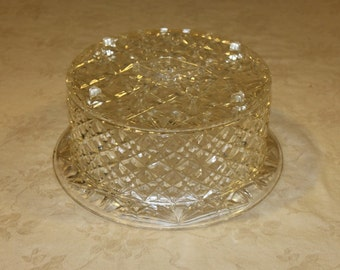Covered Lucite Cake Stand