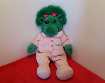 Vintage baby bop plush doll / baby bop in her pajamas,  barney and friends
