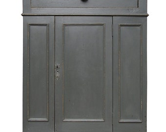 Antique French Grey Cabinet, drinks Cabinet