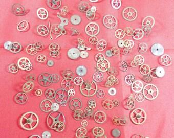 104  Vintage Steampunk Watch Gears Wheels Parts Altered Art.#-8