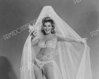 NANCY KOVACK 5x7 or 8x10 Photo Print Hollywood 1960s Busty Bikini Veiled Glamour, Vintage Golden Age of Hollywood Portrait