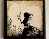 "Small Print - poster - art - Garden - wall decor - illustration - silhouette - victorian - Miss Shadow - ""New Beginning"""