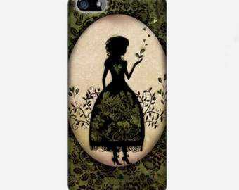 "Smartphone case - iPhone case - Samsung Galaxy Case - Victorian - Cameo silhouette - Miss Shadow - ""Garden"""