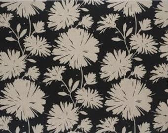 Daisyfield Black, Designer Fabric, Fabric By The Yard