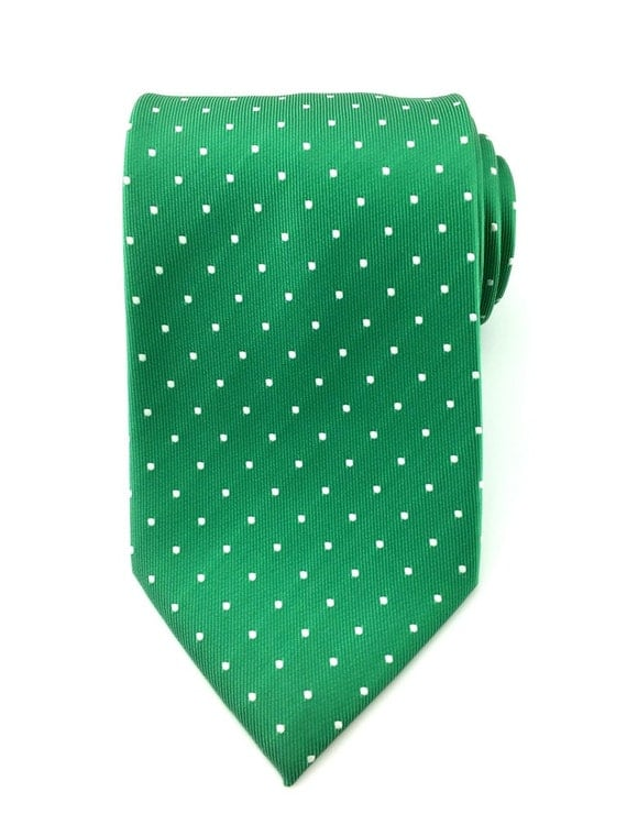 Mens Necktie Green with White Polka Dots  Necktie 8.5cm Party Tie.Casual Tie.Handmade Tie.Polka dot tie. Green tie.Formal Tie.Business Tie.