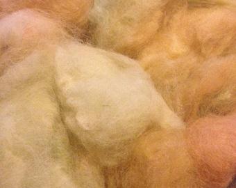 Hand dyed alpaca fibre 100g