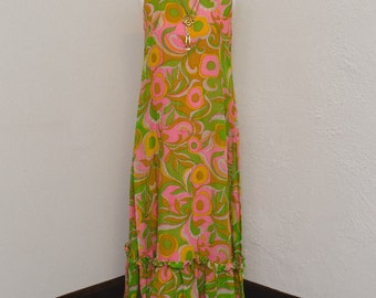 1960's Mod Floor Length Dress