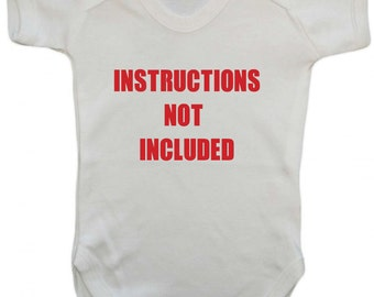 Instructions Not Included Funny Babygrow Gift Idea