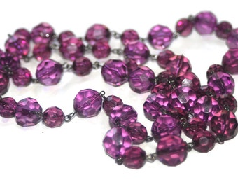 Vintage Purple Beads Broken Necklace,Craft Items,Vintage Jewelry Making Charms