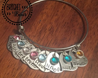 Personalized Stainless Steel Bracelet - Adjustable