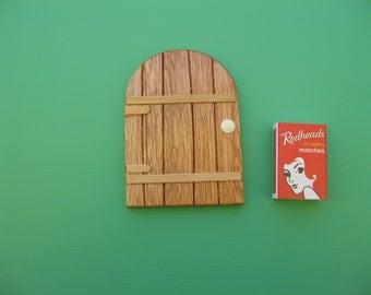 Small Wooden FAIRY DOOR