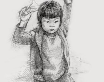 Hand Drawn Pencil Sketch From Photos, painting from photo, custom portrait,