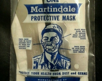 Vintage Martindale Protective Dust Mask Sealed New Old Stock